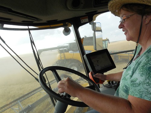 Mom in the combine