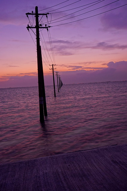 utility poles into the sea 21