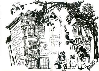 Normandy Holidays Homework #3 - L'hôtel d'où Monet peignait la Cathédrale de Rouen