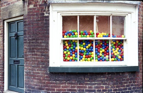 window full of balls by pho-Tony