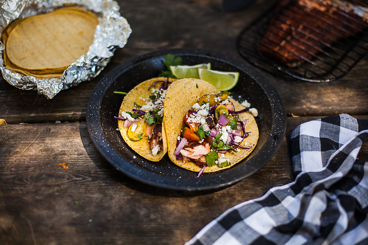 Campfire Cooking: Salmon Tacos