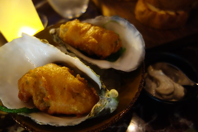 oysters in chickpea cumin batter