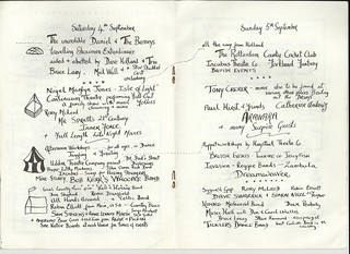 rougham tree fair 1982 program saturday and sunday