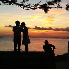 #hayama #sunset #fujisan #couple