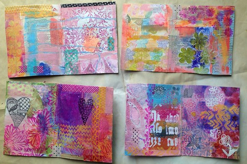 Small Art Journal Series - Inside Covers before binding