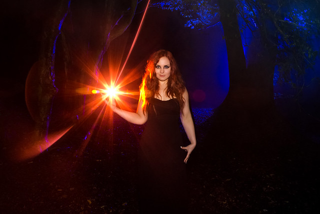 Witchcraft (Katherine Velours Witch With Lightpainting), Shrubhill Common
