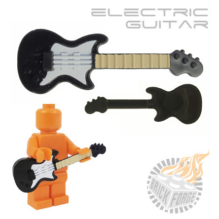 Electric Guitar - Black (white pickguard & tan neck)