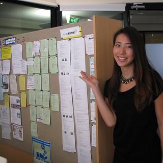パースのインフォーメーションボードです。ここには、シェア、お仕事、日本人がいる美容院などの情報、売り買い情報があります。