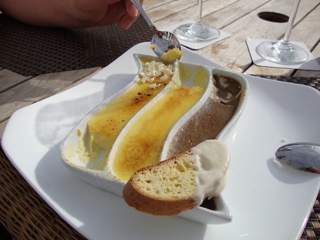 The Sagamore triple creme brulee