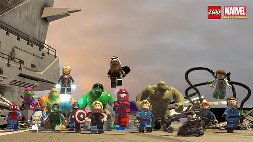 LEGO Marvel Super Heroes cast wallpaper