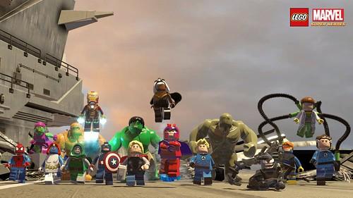 LEGO Marvel Super Heroes cast wallpaper