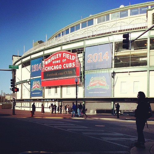 Mecca! Complete with wedding party posing on the sidewalk. #cubs #maybenextyear #ortheyearafter