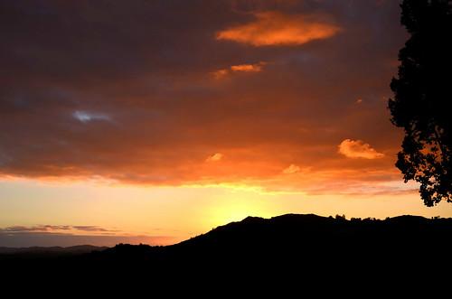 california sunset orange silhouette clouds catholic glow sandiego cloudy christian hills psalm 1000views mysunsetspot digitalpainteffect art4theglryofgod