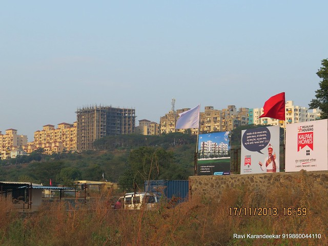 Closeup of DSK Vishwa Dhayari from Belvalkar Kalpak Homes, 1 BHK & 2 BHK Flats at Kirkatwadi, Sinhagad Road, Pune 411024