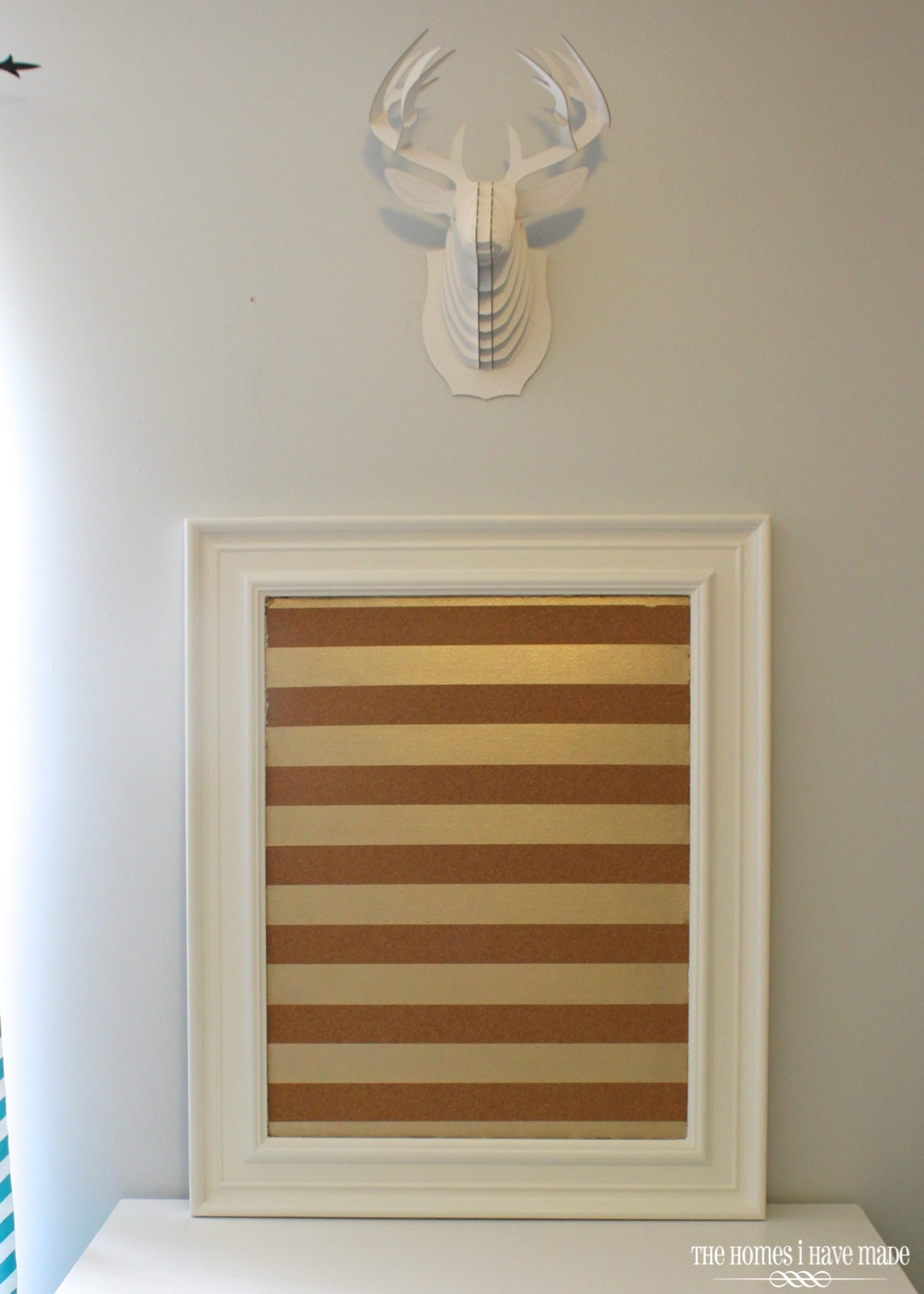 Gold-Striped Cork Board 7