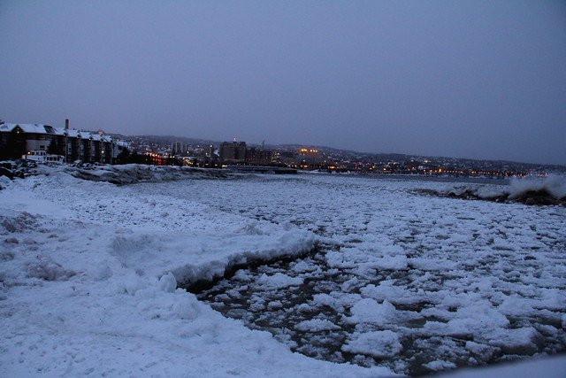 Canal Park, December 22, Ice Water
