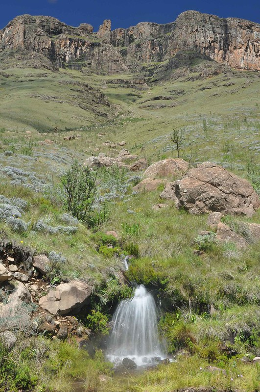 Waterfall on the Sani Pass