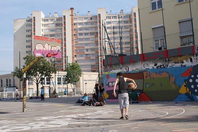Playground à Lyon sur le plateau de la Croix-Rousse