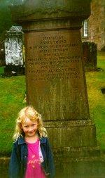 Jayne & Bryson headstone, Sorn