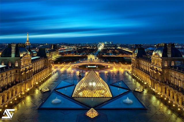 Paris from Louvre @ Blue Hour