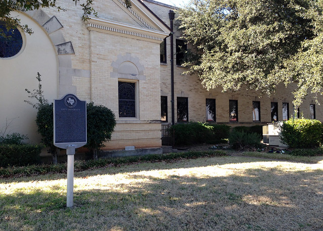 Former site of Waco University (now First Baptist Church of Waco)