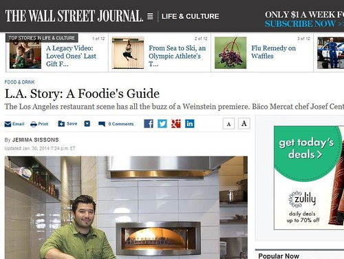 Wall Street Journal: L.A. Story: A Foodie's Guide