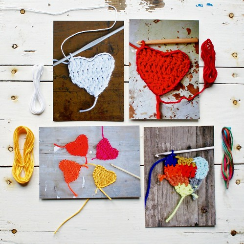wood & wool sewing cards 3