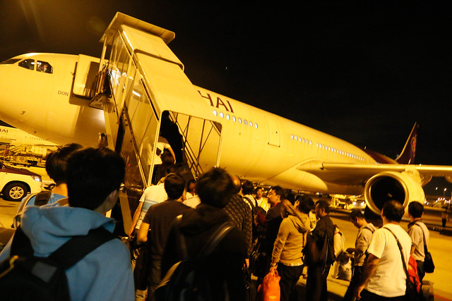 TG636 boarding