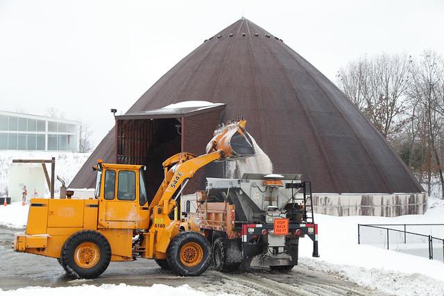 Loading Salt at Zion Crossroads Area Headquarters