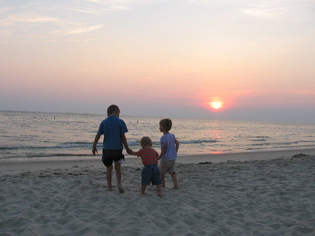 The beach is perfect for our family at Kiptopeke State Park