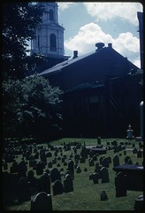 Granary Burying Ground and Park Street Church, Boston, 1960