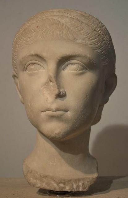 Empress Fulvia Plautilla, wife of the Roman emperor Caracalla, 202-205 AD, Palazzo Massimo alle Terme, Rome