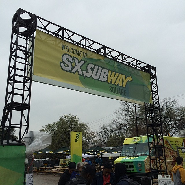 Subway goes #sxsw