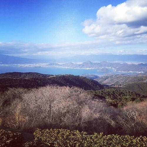 富士山雲に隠れちゃってるけど絶景だなあ(^^;;