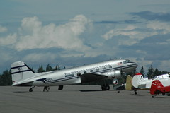 aviation, narrow-body aircraft, airliner, airplane, propeller driven aircraft, vehicle, tarmac, douglas dc-3,