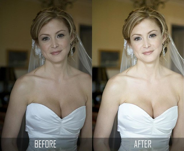 Photo Enhancement of a Wedding Photo The Bride