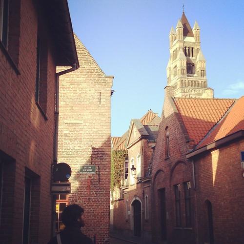 Ruelle à Bruges, Belgique