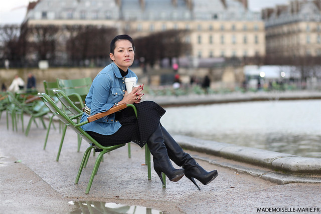 Tina Leung at Paris fashion week