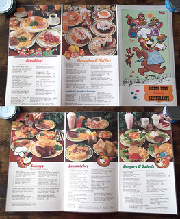 1974 Golden Bear Family Restaurants Menu