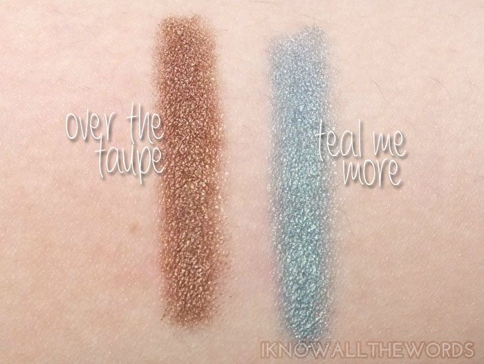 Mary Kay At Play Eye Crayon- Over the Taupe and Teal Me More (2)