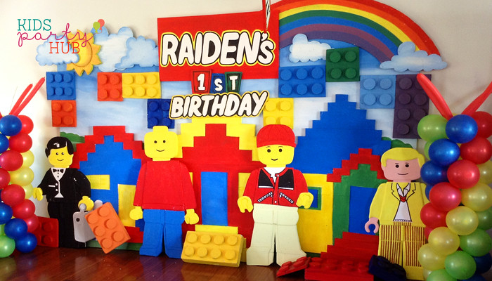 Lego Theme Backdrop Decoration