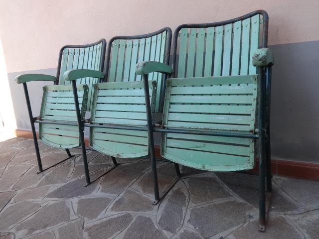 Sedie Da Cinema Vintage.Sedie Da Cinema All Aperto Vintage 3 Posti Laboratorio Vintage