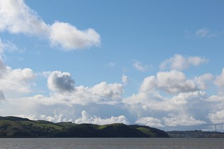 April 4 -2014 The Carquinez Strait in spring, looking northwest from Martinez, CA, USA. 003