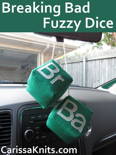 Breaking Bad Fuzzy Dice