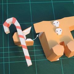 วิธีทำโมเดลกระดาษตุ้กตาคุกกี้รัน คุกกี้ผู้กล้าหาญ แบบที่ 2 (LINE Cookie Run Brave Cookie Papercraft Model Version 2) 019
