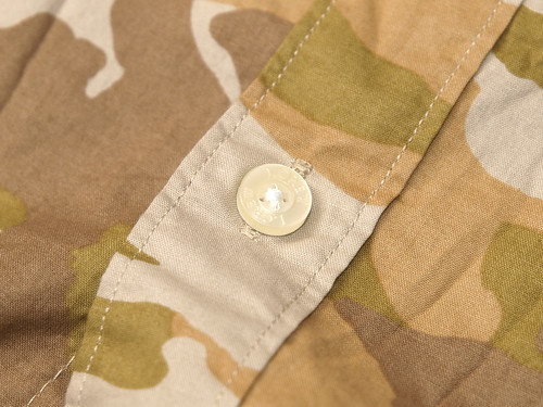 J.Crew / S/S Printed Washed Shirt - Tonal Brown Camo