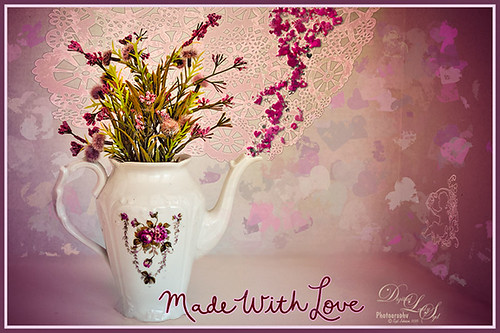 A Valentines Day Wish for You with a vase and flowers