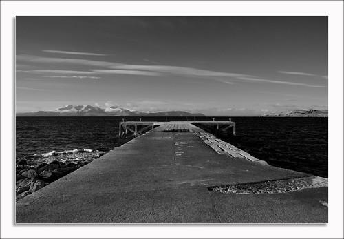 Portencross Pier and Arran