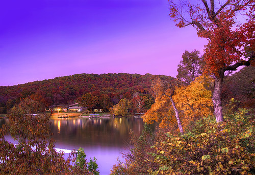 pink autumn trees sunset lake color water beautiful leaves clouds photoshop canon reflections landscape lights evening twilight scenery colorful sundown dusk horizon mo hills missouri hdr waterscape photomatix camdencounty 60d highwayd hahatonkastatepark canoneos60d sunsetfall stephenfrazier lakefotheozarks september2014 stevefrazierphotography minnowbrookestatesroad