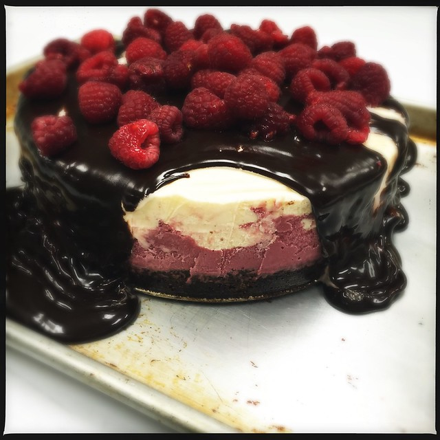 Chocolate & Raspberry Ice Cream Cake